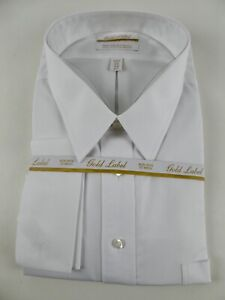 Roundtree & Yorke Gold Label Non Iron EZ Wash Dress Shirt NWT $55 French Cuff