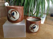 2 Mashiko Japanese Pottery Tea Bowl Yunomi