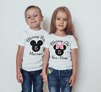 Disney inspired  Children's Birthday T shirt or babies body suit!