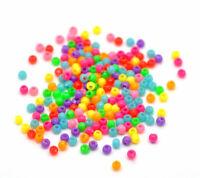 """10000Pcs Random Colorful Acrylic Pony Bubblegum Beads Round Making 3mm( 1/8"""")"""