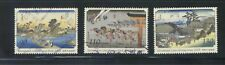 JAPAN 2003 INT'L LETTER WRITING WEEK (PAINTINGS) COMP. SET OF 3 STAMPS FINE USED