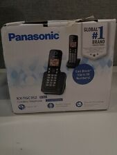 Panasonic Expandable Cordless Phone System- 2 Handsets Black