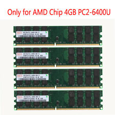 4pcs 4GB DDR2 2RX4 PC2-6400 800Mhz 240PIN Memory RAM DIMM For AMD Motherboard #D