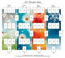 Legeschablone 4 Jahreszeiten neu new Tarot Orakelkarten Kartendeck
