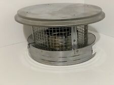 6 in. Round Chimney Cap Stainless Steel Rain Guard Top Roof Mount Wood Gas Coal