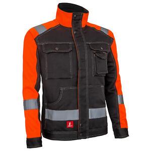 Sicherheitsjacke Berufsjacke Arbeits Schutz Warnjacke Schwarz Orange (URG-J-914)