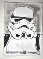 2020 Star Wars Jedi Black & White Sketch Auto Amy Michelle Rayner Stormtrooper
