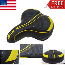 Unisex Quilted Springer Cruiser PU Bicycle Saddle Bike Seat Easy Cycling Yellow