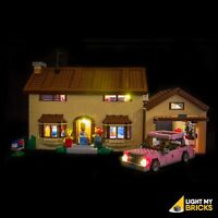 LIGHT MY BRICKS - LED Light kit for Lego Simpsons House set 71006 Lego LED Light