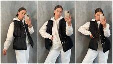 Womens Quilted Zip Up Puffer Gilet Waistcoat Padded Winter Vest Long Bodywarmer
