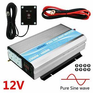 GIANDEL 2000W Pure Sine Wave Power Inverter DC 12V to AC 230V with Remote & USB