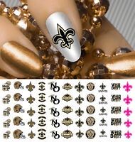 New Orleans Saints Football Nail Art Decals - Salon Quality!