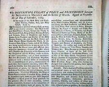 Creating Treaty Of Peace Formalizing Ending of Revolutionary War 1783 Magazine
