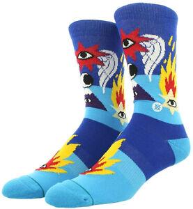 STANCE Ricardo Cavolo Shooting Star Crew Socks sz L Large (9-12) Blue Photo Red