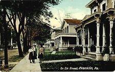 FRANKLIN PA VIEW OF ELK STREET USED 1912
