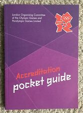 LONDON 2012 OLYMPIC GAMES ACCREDITATION POCKET GUIDE BOOK- OFFICIAL PRODUCT