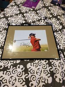Natalie Gulbis Lpga Autographed Framed Color 11x14 Photo Psa