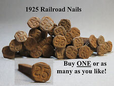 1925 RAILROAD STEEL DATED # 25 ANTIQUE DATE SPIKE NAIL train tie marker L25