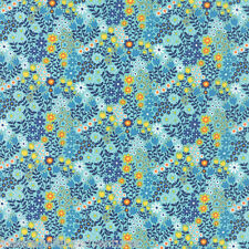 MODA Fabric ~ ON THE WING ~ by Abi Hall (35264 13) Robins Egg - by the 1/2 yard