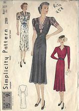 1939 Vintage Sewing Pattern B36 DRESS (1432)