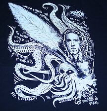 """The Oldest and Strangest"" HP Lovecraft Mythos Glow Women's XL Shirt Teevillain"