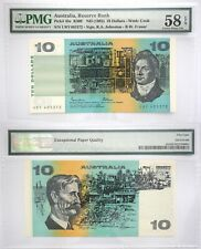 Australia 10 AU$ PMG 1985 Banknote AU 58 EPQ SN: URY405372 Pick # 45e R309 ND