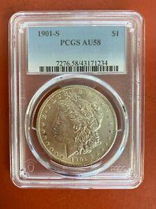 1901-S Morgan Silver Dollar PCGS AU 58