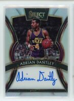 2019-20 Adrian Dantley 157/199 Auto Panini Select Silver Autographs