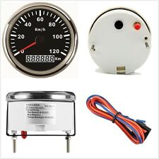 1x Universal85mm GPS Speedometer 120KM/H Stainless Steel Digital Gauge 12V 24V