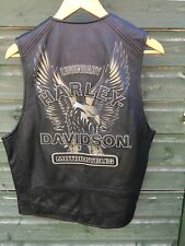 Legendary Harley Davidson Motorcycles Bike Leather Vest Waistcoat Medium M Biker
