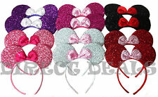 12 Minnie Mouse Ears Shiny Mix Color Headband Party Favors Birthday Costume