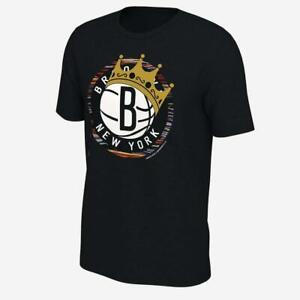 Brooklyn Nets Crown Logo Men's NBA T Shirt Funny Black Vintage Gift Men Women