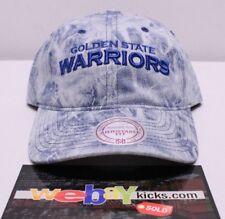 18a74438a53 Mitchell   Ness Golden State Warriors Denim Blue Strapback DaD Cap Hat NBA  New