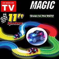 Bend Glow Light up Tracks Magic Childen Race Car Toys Racetrack LED 1 Set