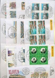 Bund 1999/2000 Messebriefe der Deutschen Post 13 verschiedene (XL9300)