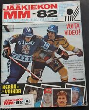 1982 Finnish Semic VM Hockey Sticker Album 111/162 Stickers