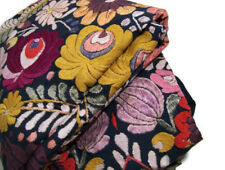 Pottery Barn Helena Flowers Embroidered Accents Full Queen Duvet Cover New