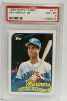 💥 1989 TOPPS TRADED KEN GRIFFEY JR. #41T PSA 8 NM-MT RC ROOKIE CARD MARINERS 💥