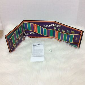 Balderdash Game Replacement 2003 Board Instructions and Dice