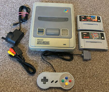 Super Nintendo SNES Console Bundle With 2 Games All Leads Ready To Play PAL UK