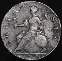 1751 | George II Half-Penny | Copper | Coins | KM Coins