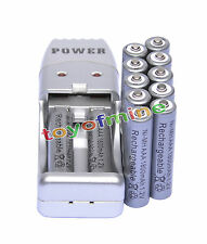 12 X AAA 3A 1800mah1.2V NiMH rechargeable battery Grey+USB Charger
