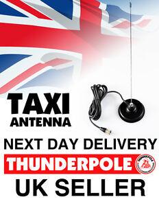 Thunderpole Taxi Radio Antenna Mag Kit    VHF Whip Aerial Mag 4m lead BNC Plug