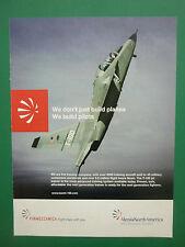 6/2011 PUB ALENIA NORTH AMERICA AVION T-100 TRAINING AIRCRAFT ORIGINAL AD