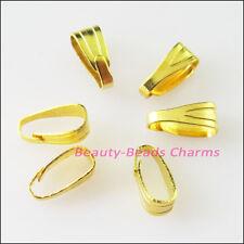 250Pcs Pendant Pinch Clip Clasp Bail Connectors Gold Silver Bronze Plated 3x7mm