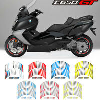 """MOTORCYCLE RIM """"15 STRIPES WHEEL DECALS TAPE STICKERS FOR BMW C650 GT"""