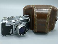 Vintage Nikon SP late model rangefinder camera with foil shutter.