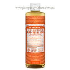 Dr Bronner's Pure Castile Organic Liquid Soap Size 473ml - 11 Varieties Tea Tree