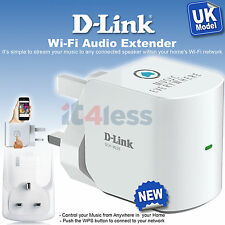 D-Link mydlink Home Music Receiver Everywhere Wi-Fi- Extender DCH-M225 UK Plug