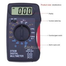 DT83B Portable Digital Multimeter Mini Pocket Ammeter Voltmeter Ohm Meter Tester